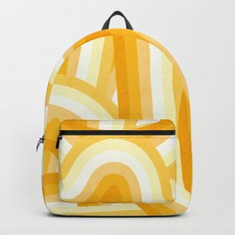 Mellow Yellow and Orange 70's Style Rainbow Stripes Backpack