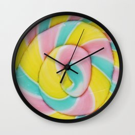 Pastel Rainbow Lollipop Wall Clock