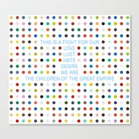 30 seconds to mars Canvas Prints featuring Thirty Seconds To Mars ; Conquistador by Wis Marvin