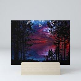 Scituate, Rhode Island Travel Poster Art - Dream, Explore, Discover Mini Art Print