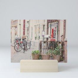 Bikes in Amsterdam Mini Art Print
