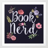 Book Nerd (reverse) Art Print