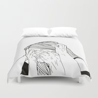 introvert Duvet Covers featuring Introvert 1 by Heidi Banford