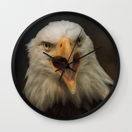 Eagle Cry Wall Clock