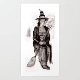 Toil and Trouble - Charcoal Drawing from Life Art Print