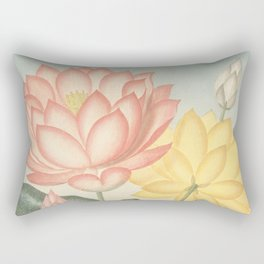 Pastel Flowers : The Sacred Egyptian Bean: New Illustration Of The Sexual System Rectangular Pillow