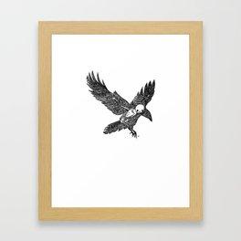 Crow Animus Framed Art Print