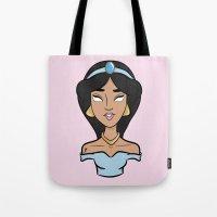 jasmine Tote Bags featuring Jasmine by Renae Richani