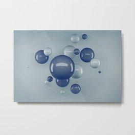 Flying Bubbles Metal Print