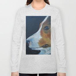Sheltie Shetland Sheepdog Art Long Sleeve T-shirt