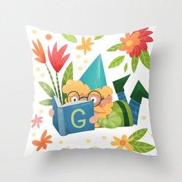Book Gnome Throw Pillow