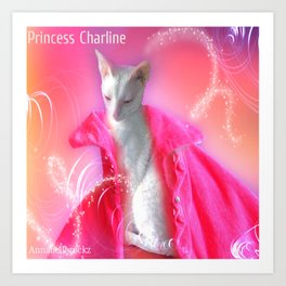Cat- Princess Charline Art Print