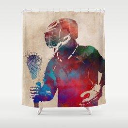 lacrosse sport art #lacrosse #sport Shower Curtain