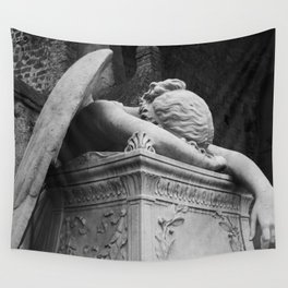 Mourning Angel Wall Tapestry