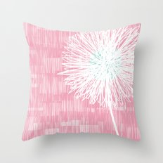 Pink Doodle Floral by Friztin Throw Pillow