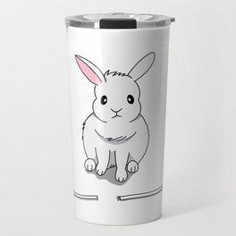 A grumpy bunny Travel Mug
