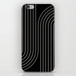 Minimal Line Curvature - Black and White II iPhone Skin