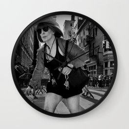 Casual Old Woman, A Wall Clock