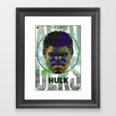 AVENGERS : HULK PRINT Framed Art Print