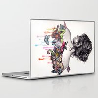 butterfly Laptop & iPad Skins featuring Butterfly Effect by KatePowellArt