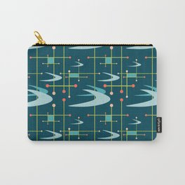 Mid Century Modern Boomerangs in Blues Carry-All Pouch