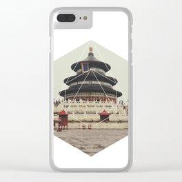 Spiritual Buddha Temple - Geometric Photography Clear iPhone Case