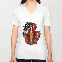 mulan V-neck T-shirts featuring Mulan by artwaste