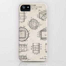 Whisky Barrel Patent - Whisky Art - Antique iPhone Case