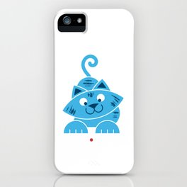 Kitty vs Laser Pointer iPhone Case