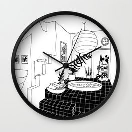 interior pool jacuzzi Wall Clock