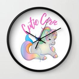 Cute Baby Unicorn Wall Clock