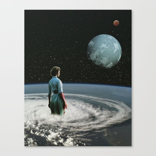 Drowning in a sea of self doubt Canvas Print