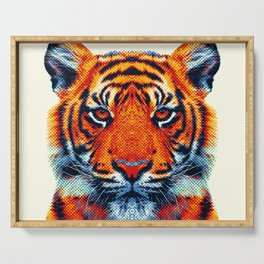 Tiger - Colorful Animals Serving Tray