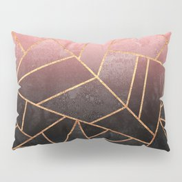 Pink And Black Stone Pillow Sham