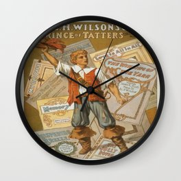 Vintage poster - Prince of Tatters Wall Clock