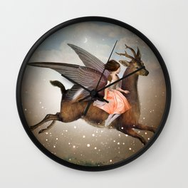 The Night Is Still Young Wall Clock