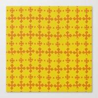 yellow pattern Canvas Prints featuring yellow pattern by JesseRayus