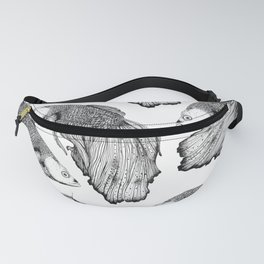 Siamese fighting fish pattern Fanny Pack