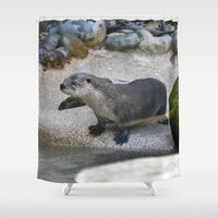 otter Shower Curtains featuring Otter by Phil Hinkle Designs