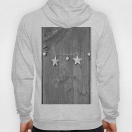 Stars on Wood (Black and White) Hoody