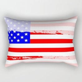 USA Flag Splash Rectangular Pillow