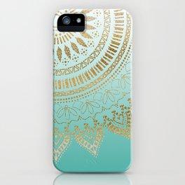 Pretty hand drawn tribal mandala elegant design iPhone Case