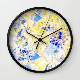 Mosaic of Barcelona III Wall Clock