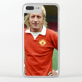 Denis Law in colour Clear iPhone Case