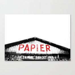 Paper Factory Canvas Print
