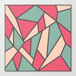 Geometric Colour Pattern V6 Canvas Print
