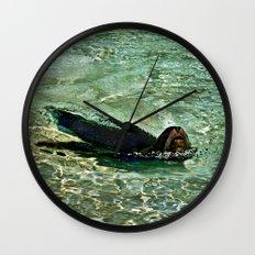 SEA LION in AQUATIC DREAMING WORLD  Wall Clock