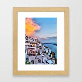 Santorini 8 Framed Art Print