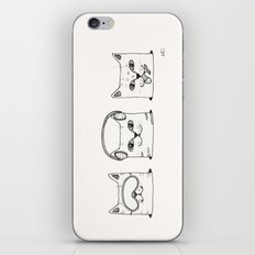 3 wise cats iPhone & iPod Skin