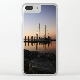 Sunrise at the Marina Clear iPhone Case